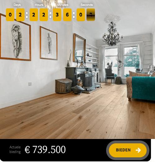 Huis veilen via Bieden & Wonen